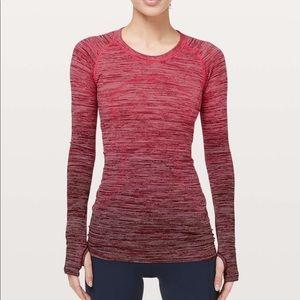 Lululemon Swiftly Tech Long Sleeve Shirt Red Alert